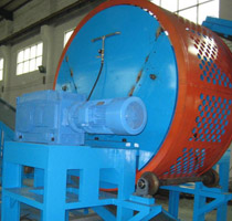Biaxial tire crusher